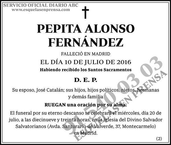 Pepita Alonso Fernández